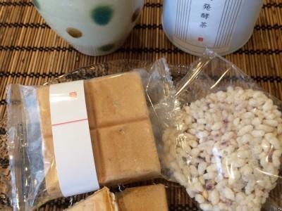春華堂の発酵茶と最中